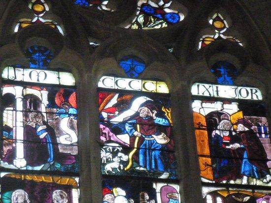 Walbourg, ฝรั่งเศส: Verrière XVè (détail) Vie de la Vierge et du Christ