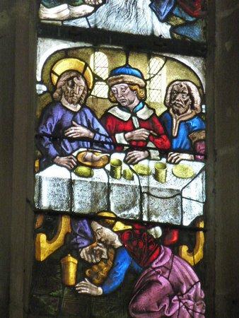Walbourg, ฝรั่งเศส: Verrière XVè Marie-Madeleine lave les pieds du Christ