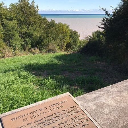 Plaque- Whitefish Bay Lookout at Silver Spring