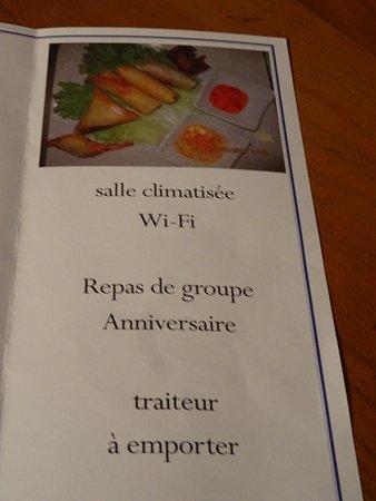 Chalus, Frankrijk: brochure du restaurant