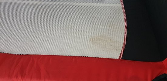 Shit marks on the Cot bed