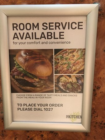 ROOM SERVICE OFFERED, £6 TRAY CHARGE OR CARRY IT YOURSELF