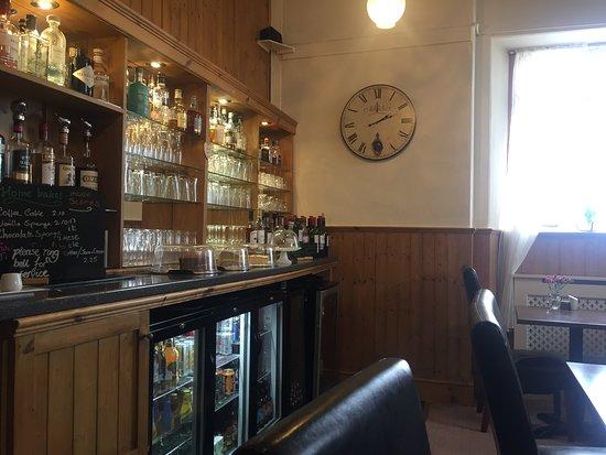 Rhiconich, UK: The bar.