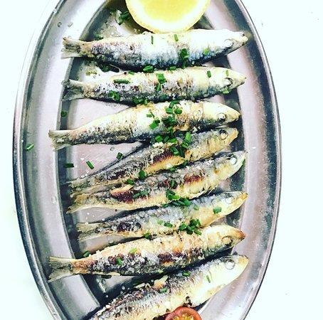 Sardina fresca a la plancha