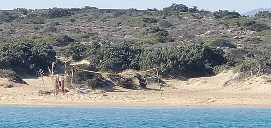 Nudist beach på Antiparos.