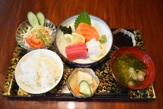 Japanease set meal from 139B. If you order Japanease meal,Japanease greentea free.