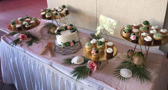 Dessert table for Wedding reception