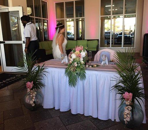 Bride & Groom table for Wedding reception
