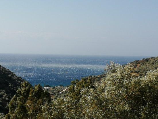 Rodakino, Greece: L'effetto del vento di Creta sul mare dalla camera
