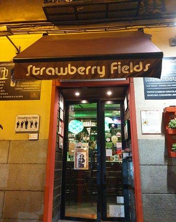 Bar Strawberry Fields along Calle De San Bernardo.