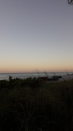 mooi zicht vanaf The Boardwalk Miami Beach