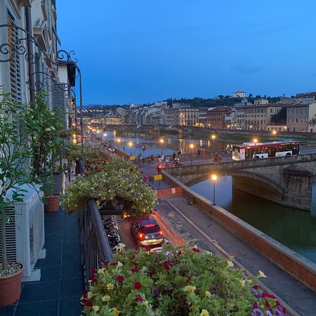 View of Ponte Vecchio from our balcony