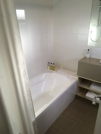 Lovely deep and large bath.