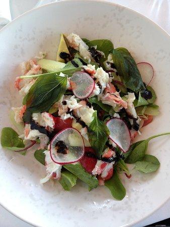 Salat mit Königskrabben....