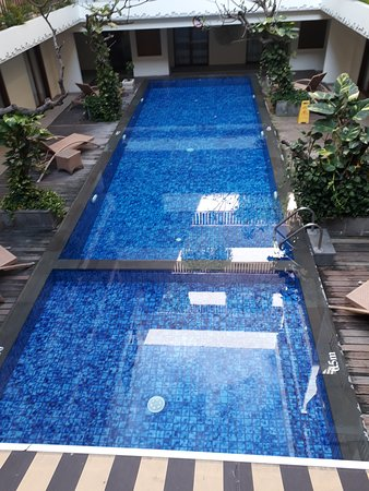 swimming pool center of the hotel