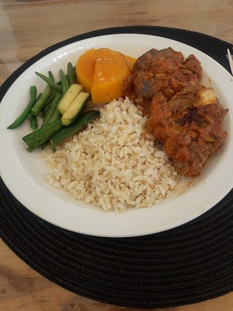Chicken with rice and veg
