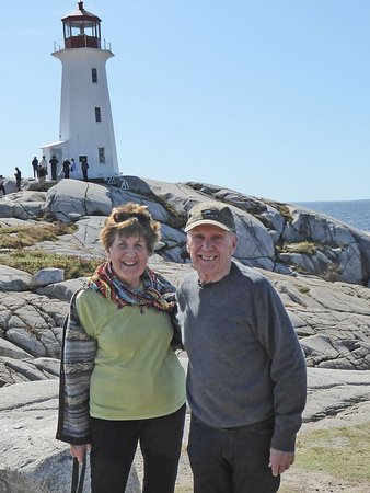 Peggy's Cove with lighthouse
