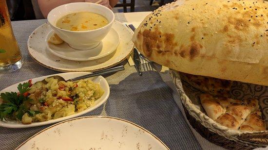 Babaganus and soup