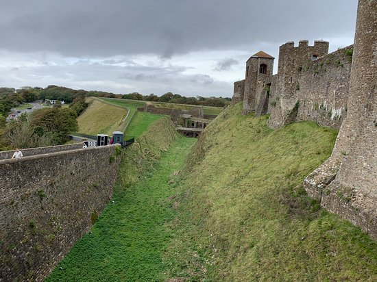 Dover Castle Entrance Ticket: Dry moat