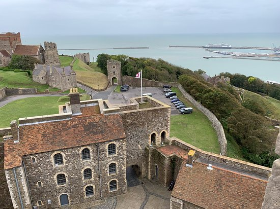 Dover Castle Entrance Ticket: View from the rooftop