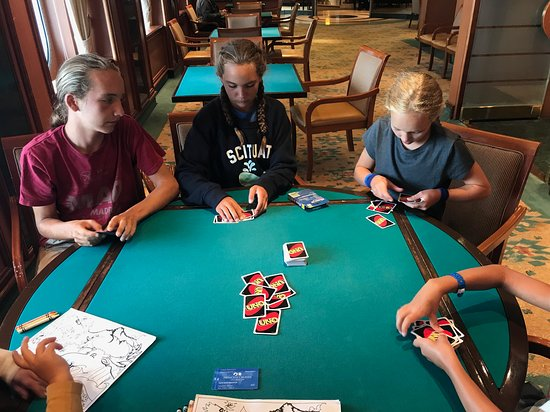 Royal Princess: We LOVED playing cards in the game room. Also a great spot to go when the boat gets a little rough and kids feel seasick.