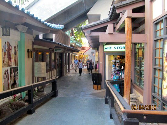 Shopping area at the resort... kind of like an outdoor mall.