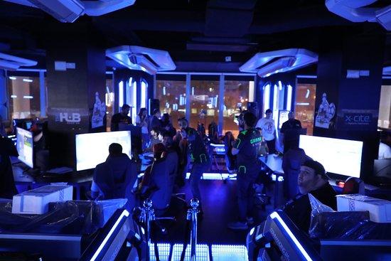 جانب من فعاليات بطولة كرة القدم الألكترونية  في عاصمة اللاعبين  Gamma Game  Capital Of Gamers