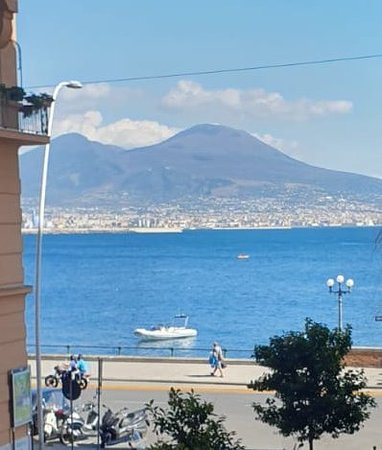 View from the balcony towards Vesuvius