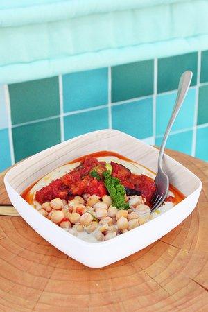 Healthy hummus bowl.
