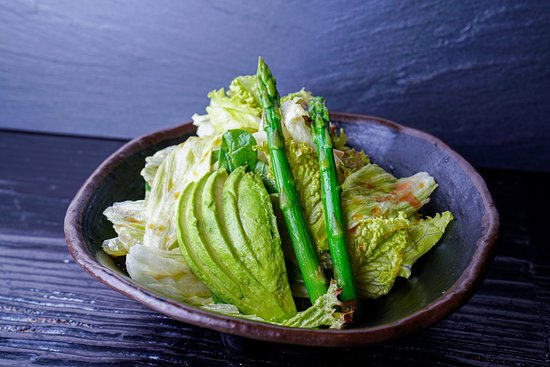 Try our Garden salad - fresh greens served with special ginger dressing 