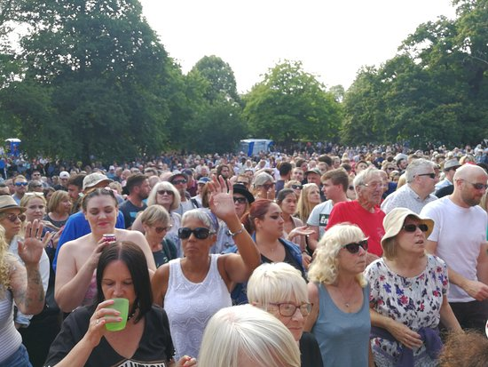 The crowds gather in their droves to see Soul Kitchen at this year's Music In The Park free event.