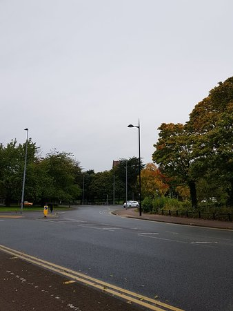 Viewed from the roundabout