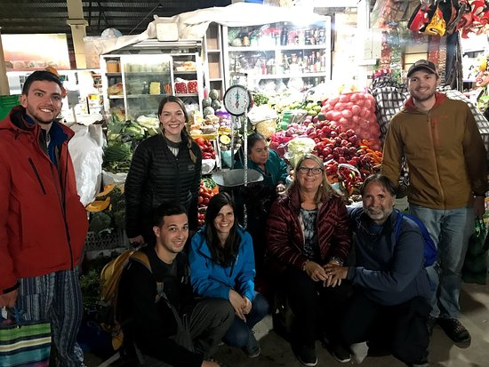 Cusco Cooking Class by ChocoMuseo: Getting some produce at the market with our group