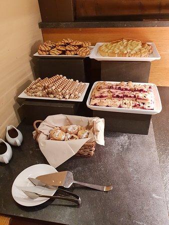 Sweet treats on offer at breakfast