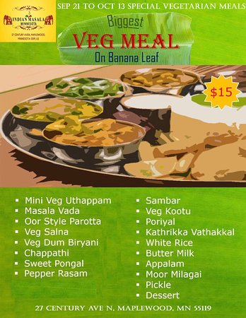 banana leaf buffet on sat&sunday
