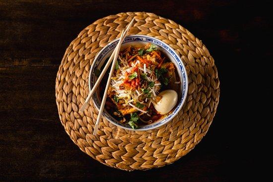 Kimchi noodle bowl.