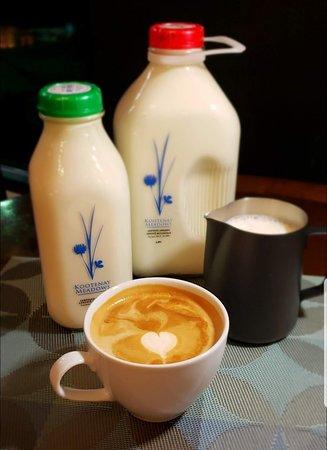 We have local organic milk too