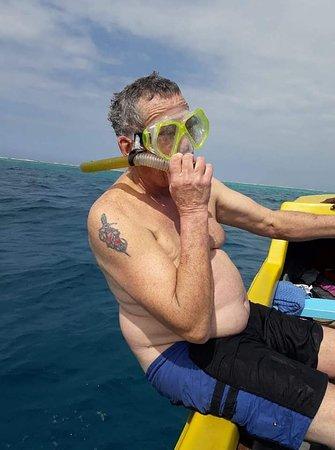 Guest enjoying snorkeling.