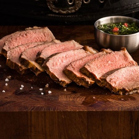New York Strip - Seasoned with rock salt and fire-roasted to tender.