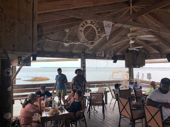 Bailey Town, Bimini: Restaurant view of the bay