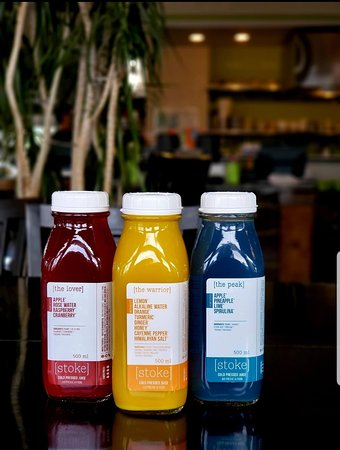 Grab a locally pressed juice from stoke