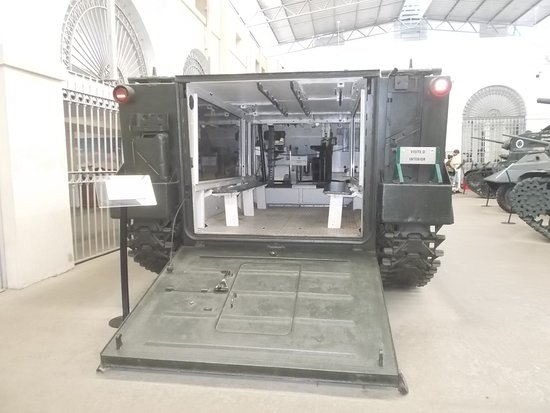 The armored carrier to enter (in the middle room just near the tank allowed to go up)