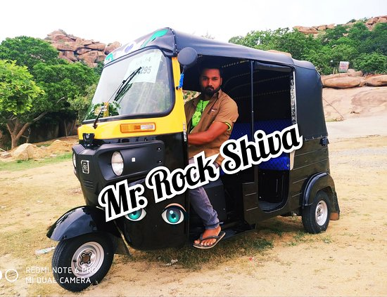 Rock Shiva Rickshaw Driver Taxi Hampi & Services