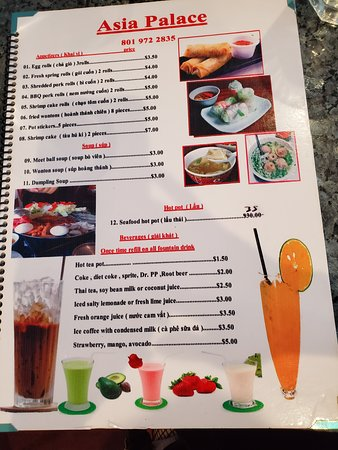 West Valley City, UT: Asia palace menu