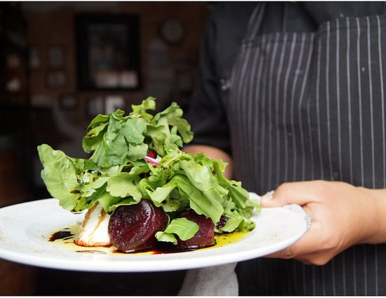 Roasted beets salad. It's hot! Not just the plate but the salad. Goat cheese, arugula, and oven roasted beets. Mouthgasms galore when you mix these ingredients together. Umami in your mouth anyone...