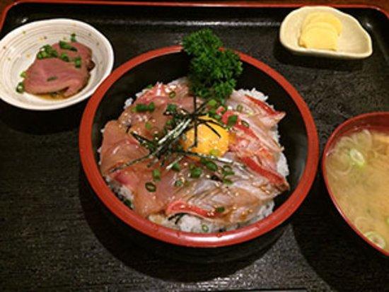 数量限定金目鯛のタタキ丼