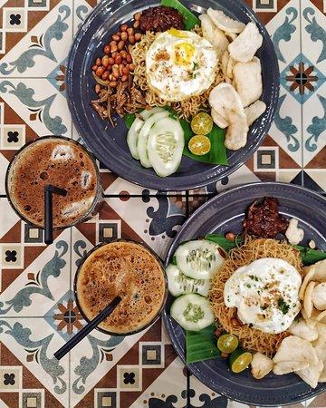 Local Malaysian Crusines - Nasi Lemak with Traditional Hainan Kopi Ice