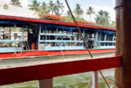 Boat houses at kerala