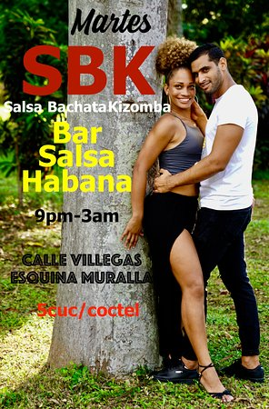 Every Tuesday your favourite Salsa, Bachata and Kizomba with free class