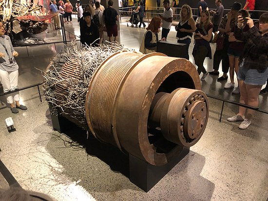 NYC 9/11 Memorial Official Tour: Elevator motor recovered